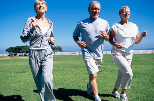 old people jogging