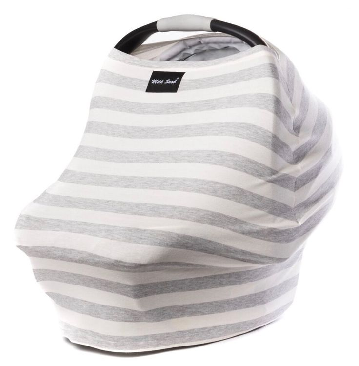 Milk Snob Cover Cream and Grey Stripes - Spearmint LOVE Also works as a nursing cover!