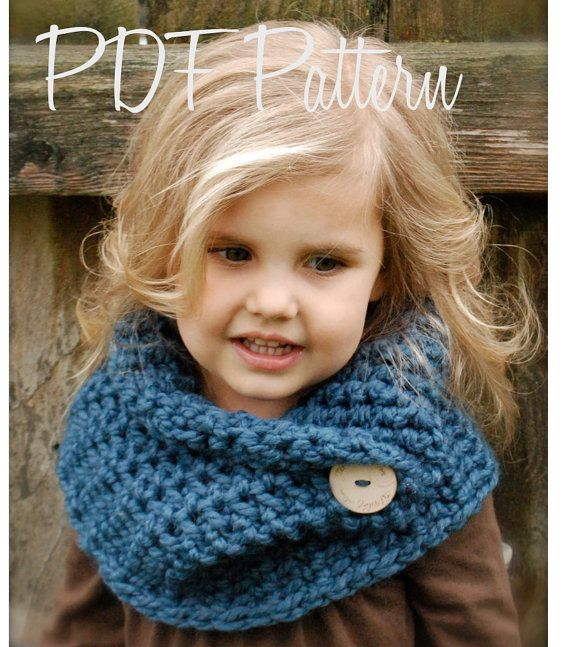 Crochet PATTERNThe Tuscyn Cowl Child Adult sizes by Thevelvetacorn - this is so cute for a little child