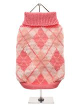 On SALE! 50% OFF! Pink Argyle Sweater - Knitted pink sweater with a baby pink and white diamond pattern. The Argyle pattern has seen a resurgence in popularity in the last few years due to its adoption by Stuart Stockdale in collections produced by luxury clothing manufacturer, Pringle of Scotland. The rich Scottish heritage will give you...