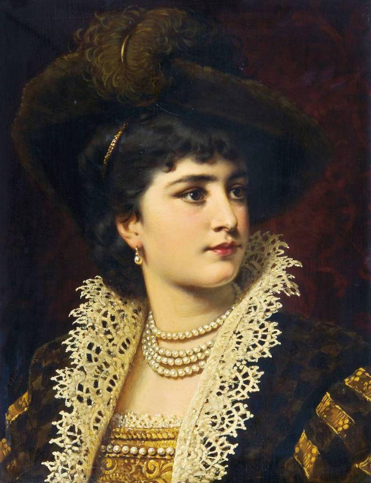 Anton Ebert (1845 — 1896) | Женщина – она прекрасна, Она таинственно мила, И грациозна и опасна, И как Богиня холодна.. Обсуждение на LiveInternet - Российский Сервис Онлайн-Дневников