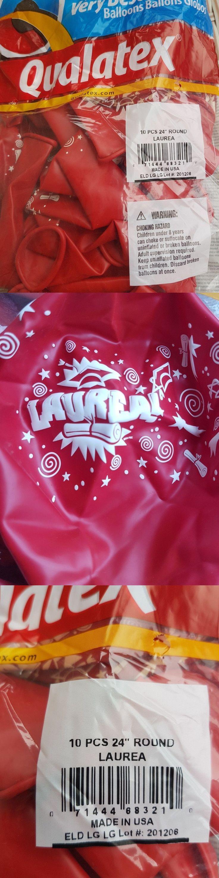 Balloons 26384: 50 Laurea Graduation Red 24 Balloon. Qualatex Helium Looner Riesenballon #12 -> BUY IT NOW ONLY: $49.99 on eBay!