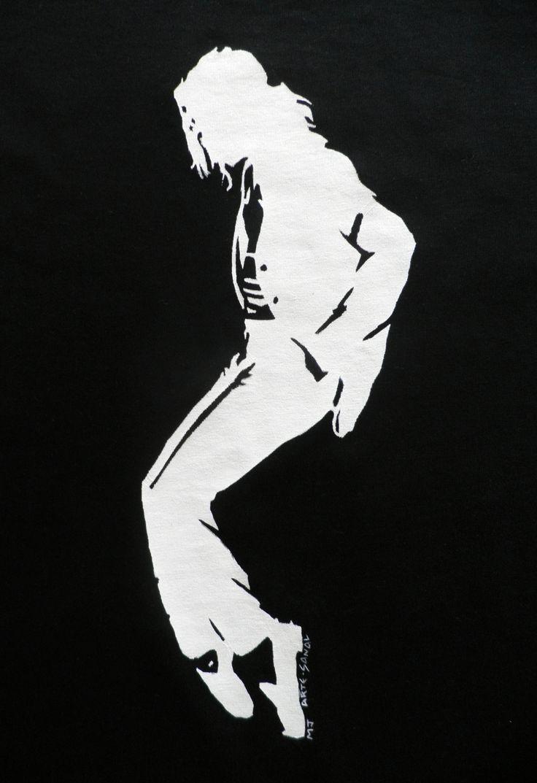 Michael Jackson Hand painted T-Shirt. Detail. | My Stencil ...
