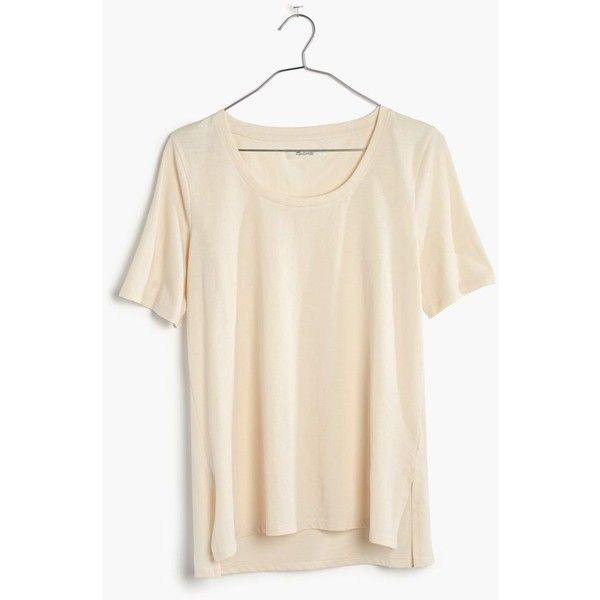 Madewell Clothing ($30) ❤ liked on Polyvore featuring tops, poached pear, vintage tops, madewell top, madewell, crew neck tops and crew top