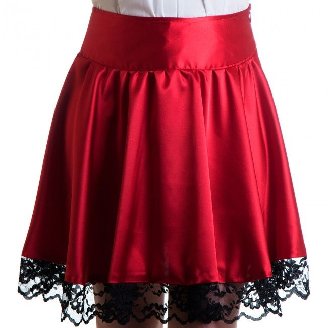 Shitsville Clothing - Victoria Red Skirt