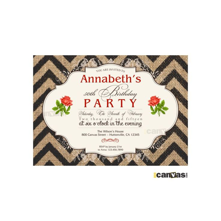 The 183 best Adult Birthday Invitations images on Pinterest ...