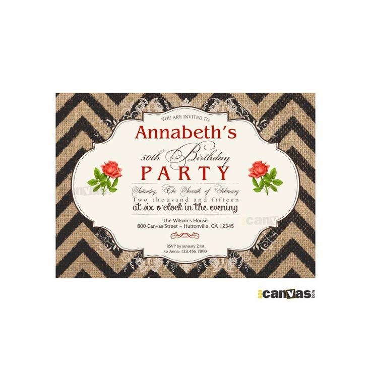 183 best Adult Birthday Invitations images on Pinterest | Birthday ...