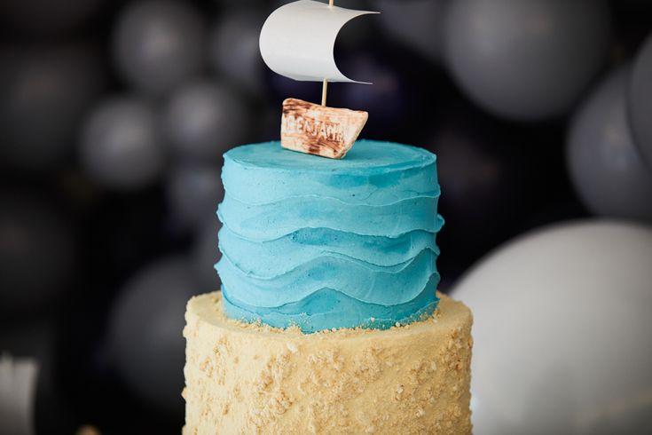 LETTUCE & CO - STYLE. EAT. PLAY - row, row, row, your boat...  nautical themed 1st birthday. custom designed nautical themed cake