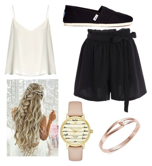 """""""Beach Walk Outfit"""" by londonkat on Polyvore featuring Raey, TOMS and Kate Spade"""