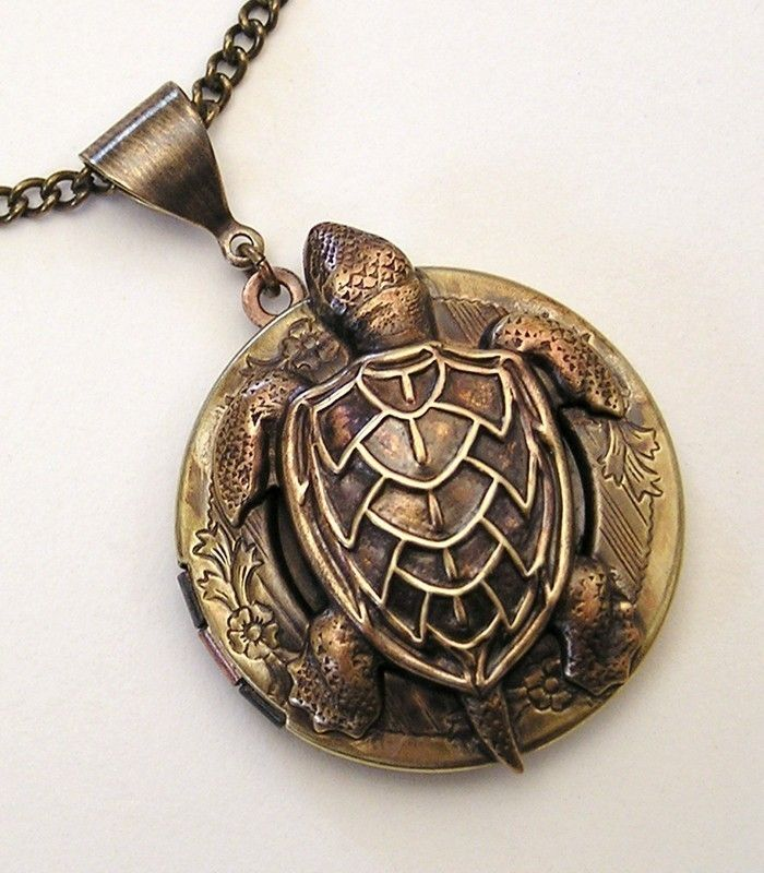 Steampunk Water Turtle Locket by chinookhugs on Etsy