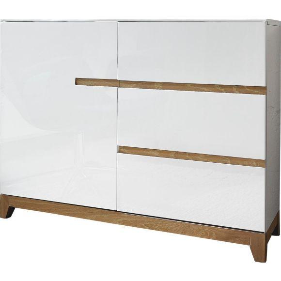 kommode in furniert massiv eiche wei eichefarben. Black Bedroom Furniture Sets. Home Design Ideas