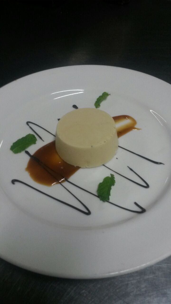 Homemade burnt butter ice cream with salted caramel. Image courtesy of Sam Cooper - Head Chef at Victoria Falls River Lodge