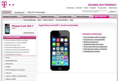 """Zu früh: Telekom nimmt iPhone 5 mit iOS 7 Hilfe aus dem Netz - http://apfeleimer.de/2013/09/zu-frueh-telekom-nimmt-iphone-5-mit-ios-7-hilfe-aus-dem-netz - Eine Hilfe zum Einrichten von iOS 7 mit dem iPhone 5 war bei Telekom heute morgen laut einem Bericht unserer Kollegen vomiphone-ticker.dezu finden. """"Vorbildlich"""" wurde die mehr oder weniger detaillierte Hilfe-Seite zu iOS 7 von Chris betitelt. Leider scheint der Telekom m..."""