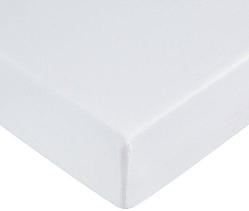 AmazonBasics Drap-housse en microfibre Blanc Neige  90 x 200 x 30 cm #AmazonBasics #Drap #housse #microfibre #Blanc #Neige