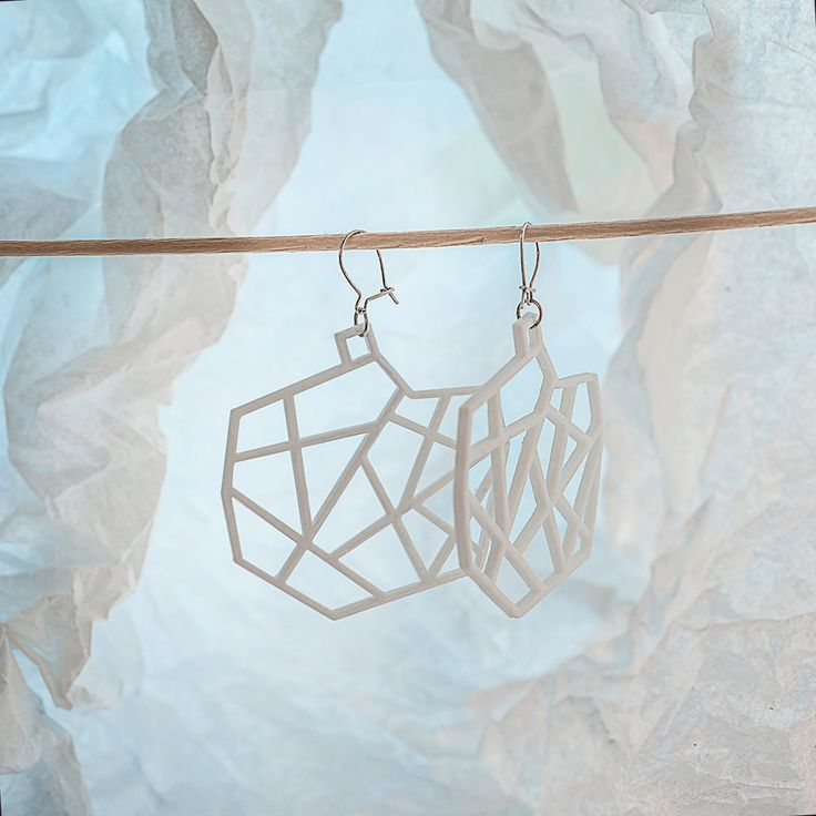 My new #stylish #minimalistic #design of #earrings #3Dprinted with #silver afro hooks You can order them on Etsy.com: https://www.etsy.com/listing/270935259/spacelights-3d-printed-earrings?ref=shop_home_active_1g