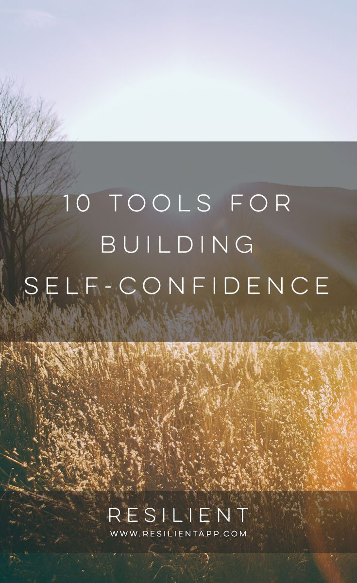 We've all had our confidence level tested. How many of us feel completely comfortable entering a room of people we've never met? How about public speaking, would you be the one to jump at the chance to make a presentation or say a speech? Here are 10 tools for building self-confidence.
