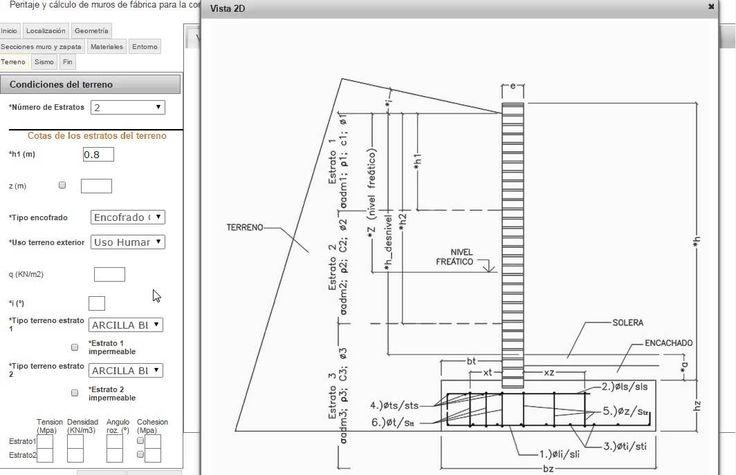 Cálculo de muros de contención de ladrillo