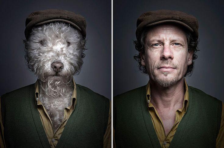 portraits de chiens habilles comme leurs maitres 7   Des chiens habillés comme leurs maîtres   Sebastian Magnani photo perruque maitre image habit chien