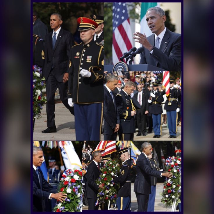 During his #annual #Final and Veterans Day #speech at #ArlingtonNationalCemetery on Friday, #November11th #2016 #President Of The United States  #BarackObama called for #national #unity The President participate in a #wreath laying #ceremony at the #Tomb of the #UnknownSoldier and deliver remarks #VeteransDay #Soldiers