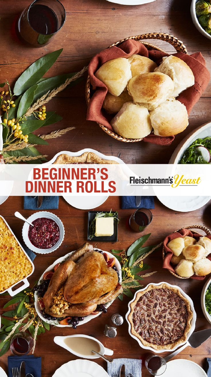 A Thanksgiving table isn't complete without classic, tried-and-true recipes like Fleischmann's Yeast freshly baked Dinner Rolls. Bake a batch or two to share with family and friends. This recipe can be prepared a day in advance and refrigerated up to 24 hours until ready to serve.
