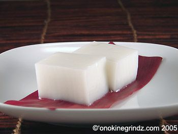 Haupia is a coconut pudding-like dessert that you will find served at any luau or Hawaiian food restaurant.  More like a gelatin-based dessert, rather than a pudding, haupia is usually served cut into squares for easy eating.