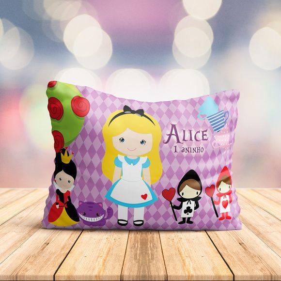 40 Almofadas Personalizada Alice No Pais Da Maravilha Modelo 002