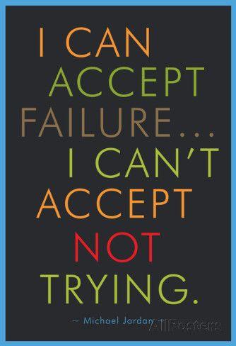 I Can Accept Failure Michael Jordan Affiches - bij AllPosters.be