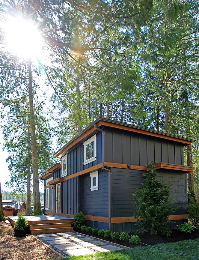 west coast homes salish park model for wildwood lakefront cottages exterior - Cottage Houses Photos