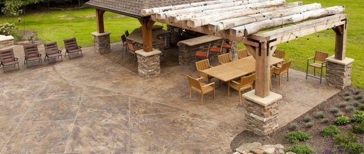 Custom Hand-Hewn Barn Beam Patio Arbor | Olde Wood Ltd ...