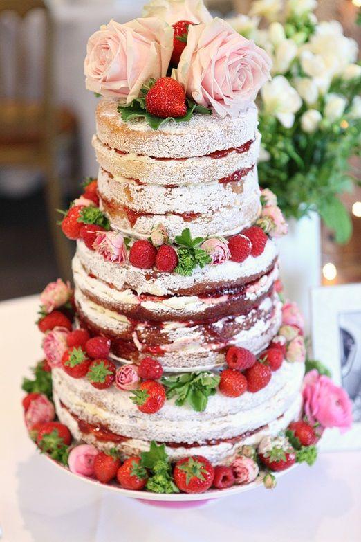 Tiered Victoria sponge wedding cake