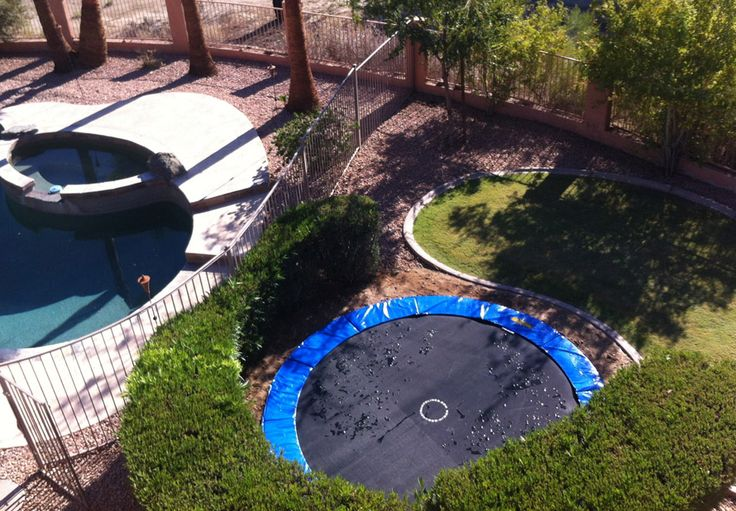 15 best trampolines images on pinterest trampolines for How to put a trampoline in the ground