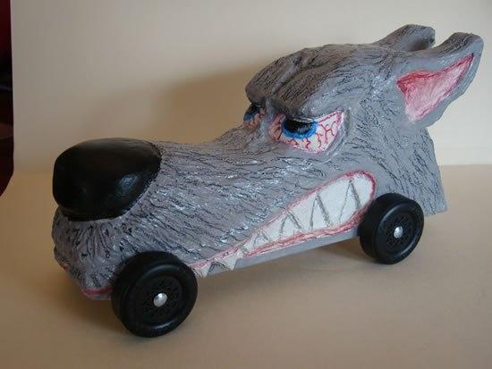 pinewood derby car big bad wolf