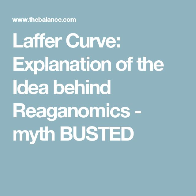 Laffer Curve: Explanation of the Idea behind Reaganomics - myth BUSTED