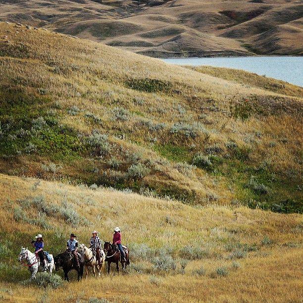 Horseback riding @ Lake Diefenbaker