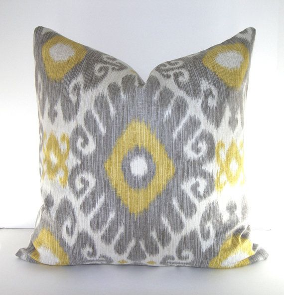 Both Sides Jaclyn Smith Ikat Decorative Throw Pillow