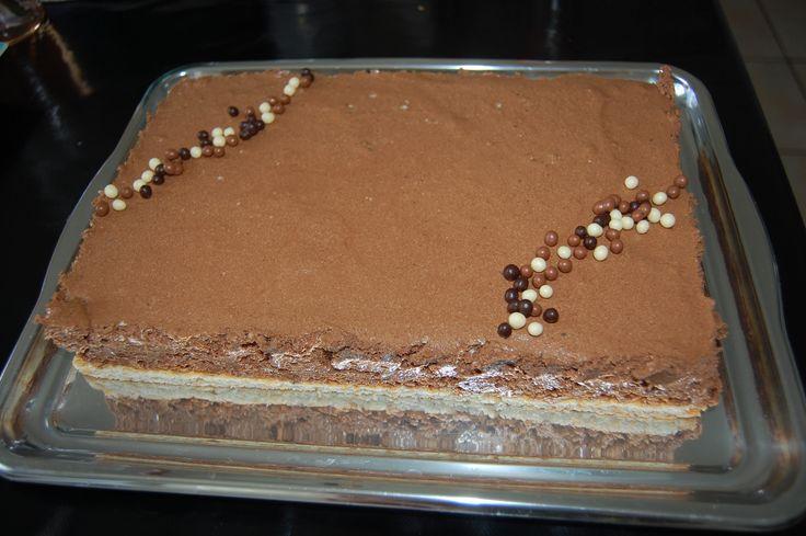 Mousse au chocolat craquant sur dacquoise