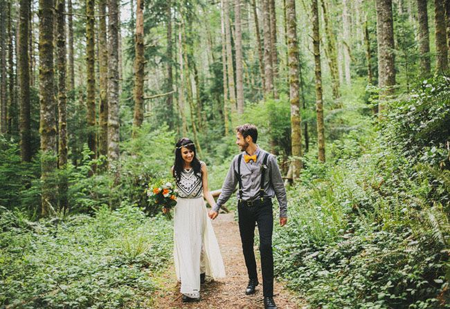 Non Traditional Wedding Dresses Los Angeles: The Striped Flamingo: Wedding Wednesday: Non-Traditional