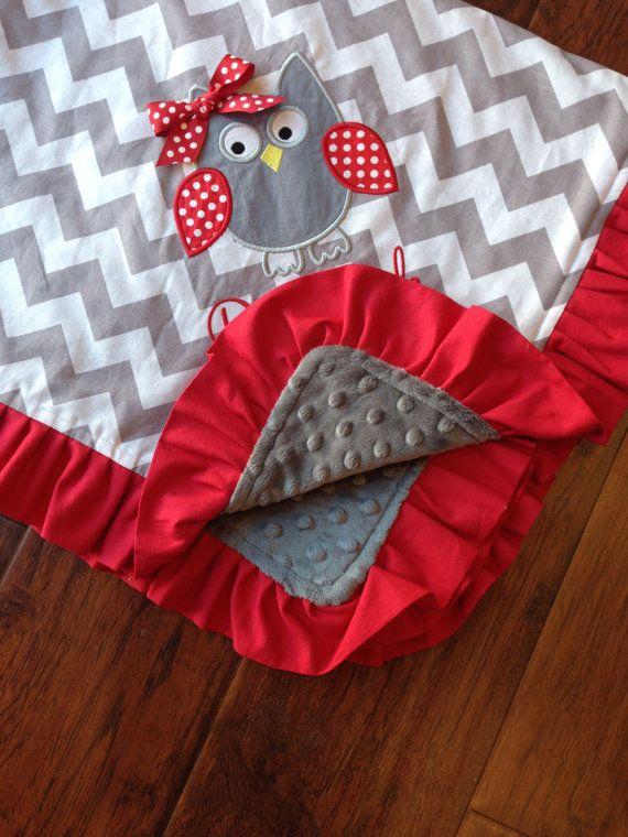 Personalized Baby Blanket Minky Baby Blanket by FunnyFarmCreations