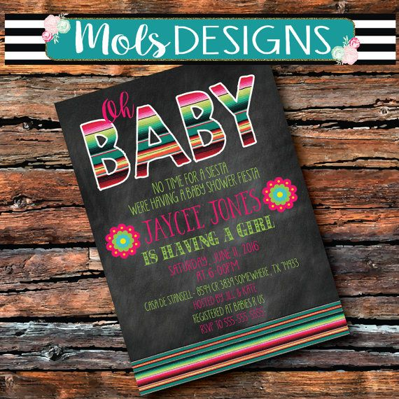 FIESTA BABY SHOWER Uno 1st 21 Birthday Serape by MolsDesigns