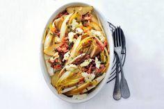19 april - Witlof in de bonus - Uit de oven nieuwe stijl: met geitenkaas, spek en tijm - Recept - Allerhande