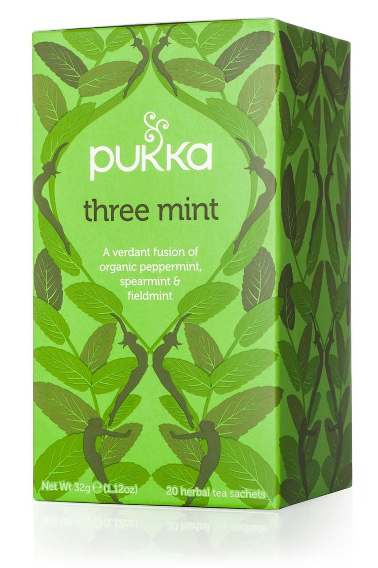 Pukka Three Mint Tea | Pukka Herbs | A crisp blend of peppermint, spearmint and fieldmint to help you feel refreshed. (Amazon.co.uk Affiliate Link)
