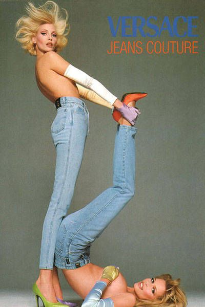 We look back to some of the best fashion campaigns of the 90's: Versace Jeans Couture Spring 1995