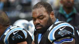 Michael Oher was joined by 'Blind Side' family during Panthers' celebration