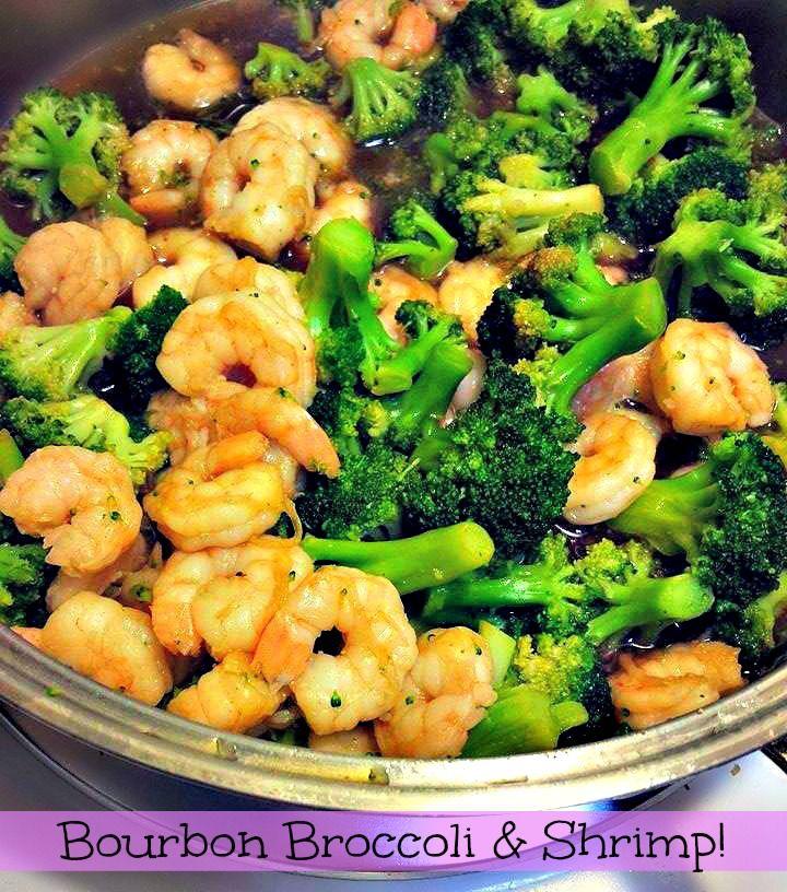 Bourbon Shrimp & Broccoli