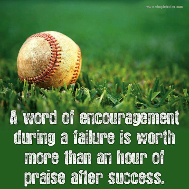 Encouragement...