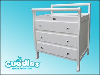 CUDDLES Baby Furniture - quality products & amazing prices!    Buy Now Only $349    * Eftpos/Credit Card payment options *      The CUDDLES Sleigh Change Table ...