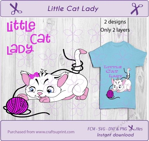 Little cat lady  girl cat t shirt design cut file for all cut machines by wendy van der vegt Little cat lady svg cat svg girl cat svg girl svg pets svg svg cut file girl shirt svg cat design svg dxf cut file svg cricutI try to design the files in a way that they are easy to use. This design is only 2 layersThe multi file contains 1 zip file with 2 designs- svg file- dxf file- fcm file-  2 png file