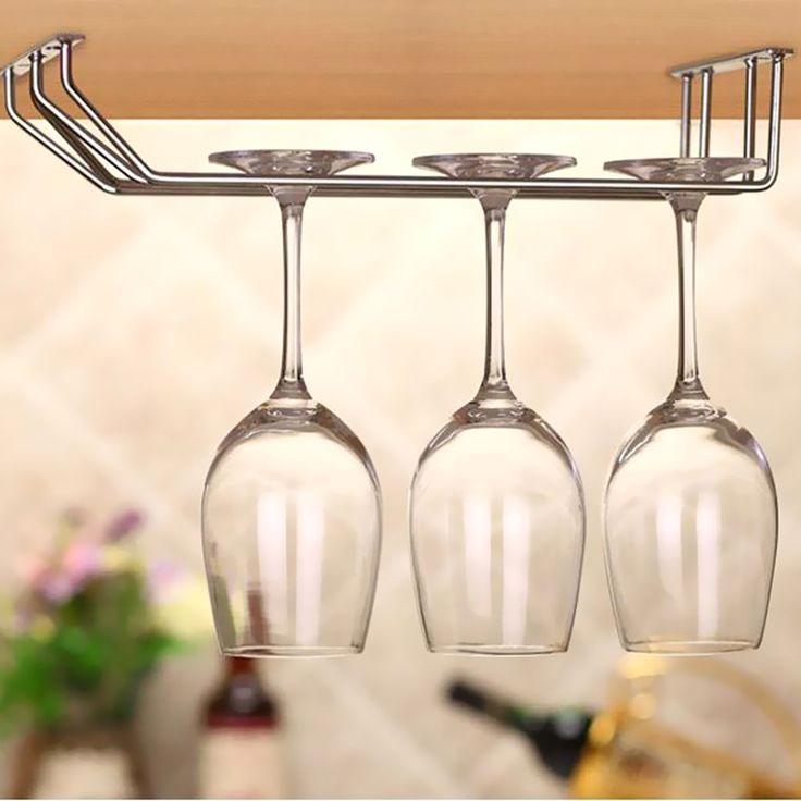Wine glass holder under