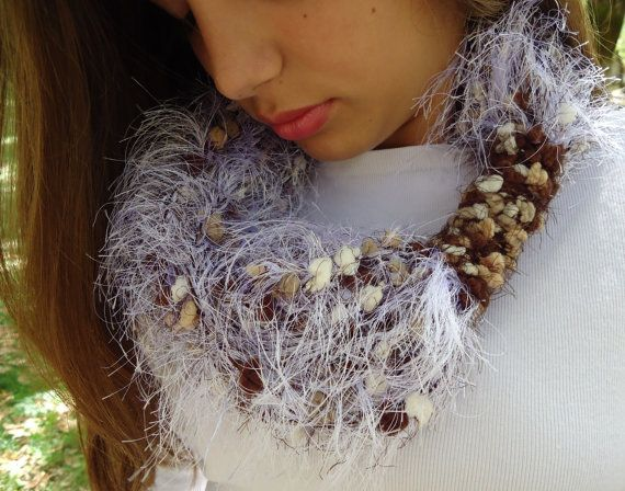 Scarf infinity scarf cowl necklace scarf crochet by PopisBOUTIQUE
