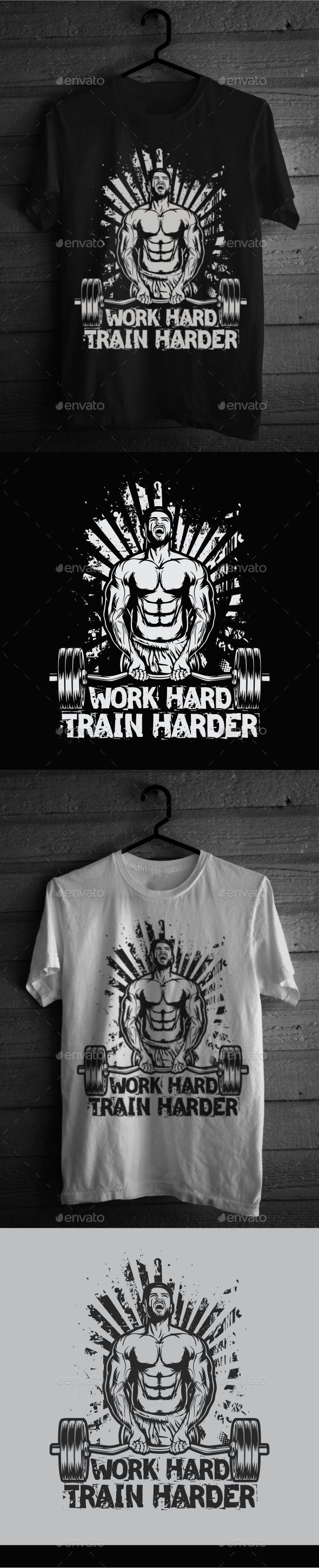 White t shirt eps - Fitness T Shirt Design5
